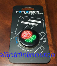 New PopSockets Single Phone Grip PopSocket Universal Phone Holder - Neon Rose