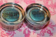 2-Maybelline Eyestudio Color Tattoo 24 Hr Hour Cream Eyeshadow 40 TENACIOUS TEAL