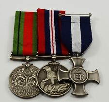3 Full Size Replica WW2 Service Medals. 1939-1945 Defence, George VI, ER Cross
