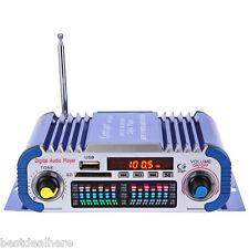 HY601 USB FM Audio 12V LED Car Stereo Amplifier Radio Hi-Fi Player MP3 Speaker