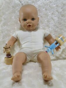 Berenguer baby doll. Dummy/thumb ready mouth. Olive complexion blue eyes. 42cm