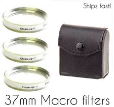 37mm  +1 +2 +4  Close-Up lenses Macro Filter Lens   Free Fast! USA Shipping