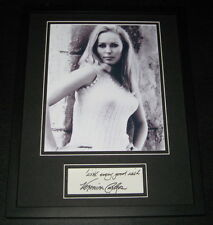 Veronica Carlson SEXY Signed Framed 11x14 Photo Display JSA