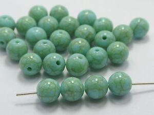 """100 Blue Imitation Turquoise Gemstone Acrylic Round Beads 10mm(3/8"""") Resin Bead"""
