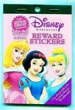 Disney PRINCESS Reward Stickers 200+ Pieces Various Designs AF Card-Scrapbook