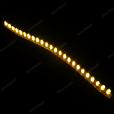 Yellow 24cm 24LED PVC Flexible LED Strip Light Waterproof  for Car Motorcycle