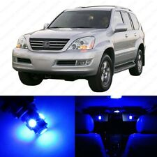 13 x Ultra Blue LED Interior Lights Package For 2003 - 2009 Lexus GX470