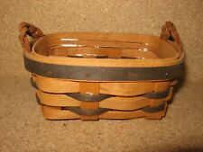 Retired Longaberger Star Bound Award Incentive Basket and Protector. Rare!