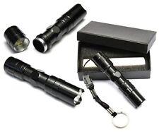 Mini Flashlight 3W 1AA Small Outdoor Flashlight Police LED Flashlight Black