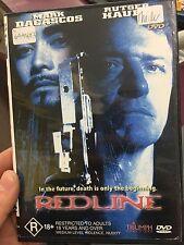 Redline ex-rental region 4 DVD (1997 Rutger Hauer action sci-fi movie) * RARE *