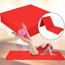 Weichbodenmatte Gymnastikmatte Turnmatte Klappbar 180 x 60 x 5 cm Rot SUPER