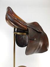 "16"" Hermes Steinkraus Vintage Leather Saddle Jumping Riding 4"" Dot Spread B2247"