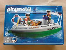 Playmobil 4471,lancha de la policia del puerto