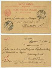 36450 - Schweiz - Ganzsache - Postkarte - Zürich 21.11.1892 nach Dresden