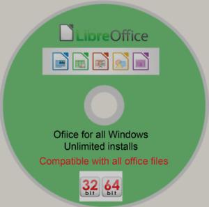 Libre Office For Windows 32bit or 64-bit Office Suite Word Excel