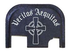 Fixxxer Veritas Aequitas Design Slide Cover Plate for Glock Fits 9mm G43