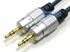 0.5 M GOLD Auto Aux 3.5 mm Jack a iPod MP3 Cavo OFC breve 50cm AUDIO MUSICA PIOMBO