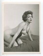 Slim Mature Female Super Mega Puffy Nipples 1950 Original Nude Photo  B4431