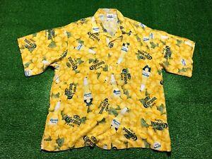 Vintage Corona Beer Men's Short Sleeve Button Front Shirt Size XL Hawaiian Camp