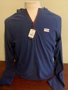 NWT Johnnie-O Gunter Men's Medium Twilight Fleece Long Sleeve 1/4 Zip hoodie NEW