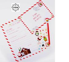CHRISTMAS KIDS LETTER TO SANTA KIT Envelope Wish List Xmas Gift 318838 UK