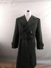 U S Military Overcoat Wool Gabardine AG-44 Liner Green Trench Coat Jacket 34 S