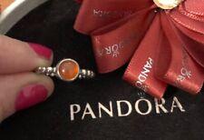 Pandora Carnelian Cabochon Bubble Stacking Ring Size 50 Authentic Ale 190157car