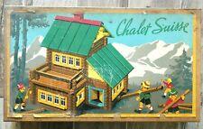 LE CHALET SUISSE jeu de construction vintage JEUJURA bois ancien