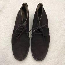 CALVIN KLEIN Mens 12M Phillip Suede Dark Brown Desert Chukka Boots Shoes