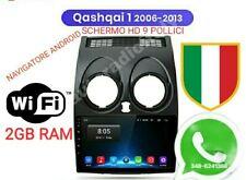 AUTORADIO ANDROID NISSAN QASHQAI 2008 2013 schermo 9 POLLICI HD 2GB RAM 32 ROM