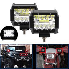"2Pcs 60W 4""Inch Led Work Light Bars Flood Spot Offroad Truck SUV ATV Jeep 6000K"