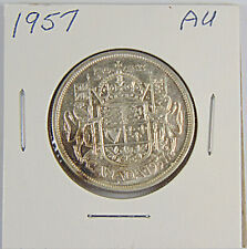 CANADA: 1957 50 Cents Silver Coin - Graded AU