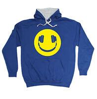 Yellow Headphone Smile HOODIE dj party dance rave hoody funny birthday gift