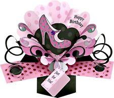Joyeux anniversaire rose chaussure 3D pop up carte d'anniversaire nouveau cadeau