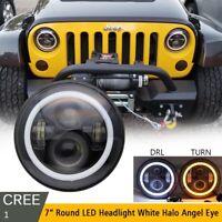 DOT 7'' Inch Round LED Headlight For 97-18 Wrangler JK LJ TJ Hummer Land Rover
