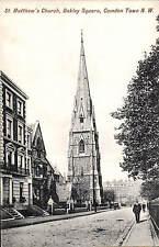 Camden Town. St Matthew's Church, Oakley Square # 876 by Charles Martin.