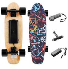 Skateboard Elettrico con Telecomando 3 velocità, Motore da 350W, Max 20 km/h