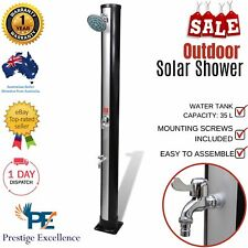 Outdoor Camp Shower Portable Solar Water Heating Camping Heated Showering Stand