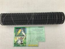 Drahtgitter  19 x 19mm Höhe 50cm Länge 5 Meter  anthrazit