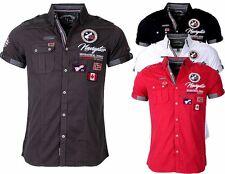 Geographical Norway Herren Hemd kurzarm T-Shirt Polo Club ZARIMINEL Slim FiT