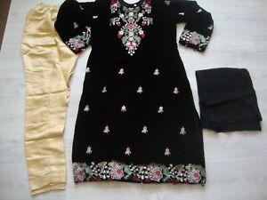Pakistani salwar kameez Ready Made designer Velvet Suit  Embroidered 2020 3pc