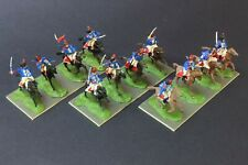 1/72 scale painted Napoleonic 12 Airfix BRITISH HUSSARS cavalry figs Wargaming