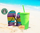 ✨✨BRAND NEW Starbucks Neon Green Tumbler Fall 2021 Grande Studded Cold Cup NEW