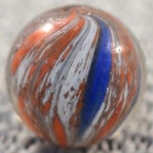 "UNUSUAL GERMAN END OF DAY ONIONSKIN SHOOTER MARBLE 29/32"" .911"" Splotchy Pattern"