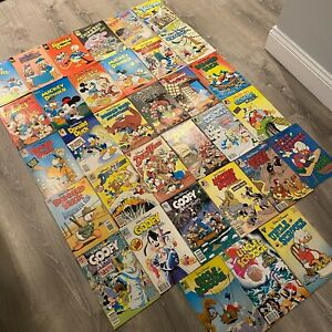 Lot of 33 Walt Disney Comic Books Scrooge Donald Duck DuckTales Mickey Mouse