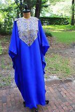 Bright Blue Sheraton Treasures Oberoi Towers Caftan Silk Dress Mumbai India