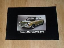 Morris 2200 & 1800 Brochure 1972