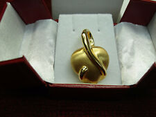 STYLISH 18K YELLOW GOLD LARGE PUFFY HEART SLIDE PENDANT - N.W.O.T. - MUST SEE