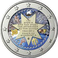 Griechenland 2 Euro 2014 Vereinigung mit den Ionischen Inseln Münze in Farbe
