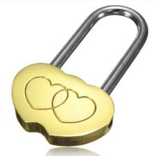 1Pce Gold Engraved Personalised Heart Shaped Padlock Love Lock Anniversary Gift